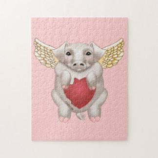 Puzzle Amour de porc de vol