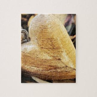 Puzzle Amour en bois en bois de fleur d'hortensia de