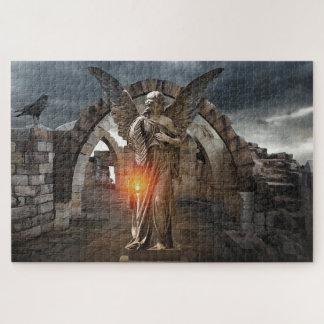 Puzzle Ange dans les ruines