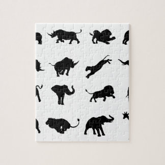 Puzzle Animal africain de safari de silhouette