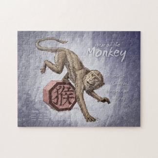 Puzzle Année de l'art chinois de zodiaque de singe