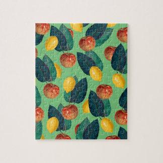 Puzzle aples et vert de citrons