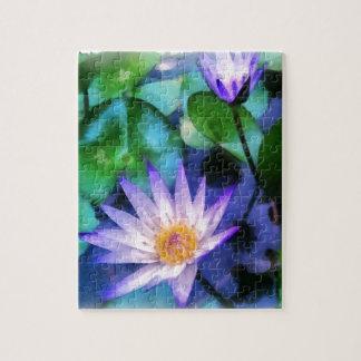 Puzzle Aquarelle pourpre de Lotus