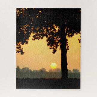 Puzzle Arbre de coucher du soleil