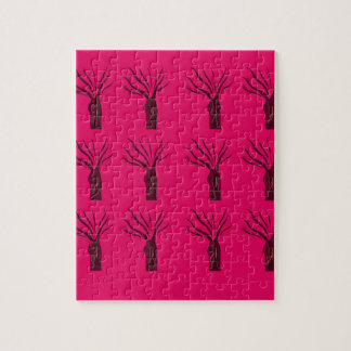 Puzzle Arbres de conception sur le rose
