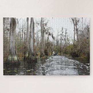 Puzzle Arbres de Cypress d'hiver dans le marais