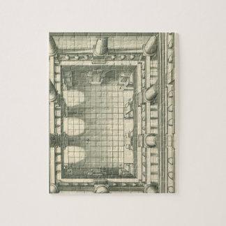 Puzzle Architecture vintage, perspective de cour