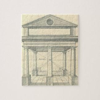 Puzzle Architecture vintage, portique romain avec des