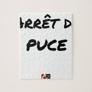 Puzzle ARRÊT DE PUCE - Jeux de mots - Francois Ville