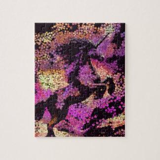 Puzzle Art abstrait de licorne magique d'imaginaire