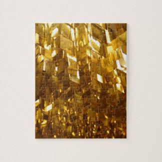 Puzzle Art abstrait de plafond d'or