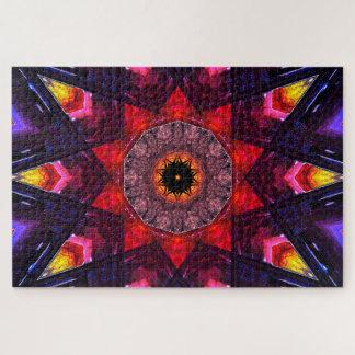 Puzzle Art coloré de mandala des étoiles |