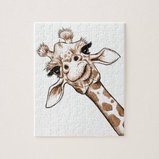 Puzzle Art curieux de girafe