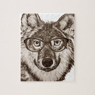 Puzzle Art de ballot de loup