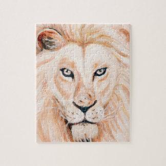 Puzzle Art fort d'huile de portrait de lion