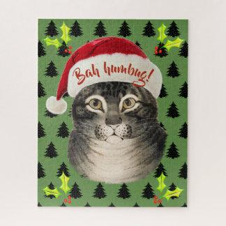 Puzzle Art fumiste vintage de chat de Bah Père Noël