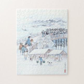 Puzzle Art japonais de 47 Ronin sur le pont de Ryogoku