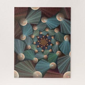 Puzzle Art moderne de fractale avec la profondeur, Brown,