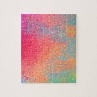 Puzzle Art spray abstrait pop couleur