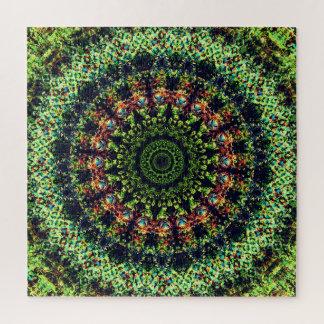 Puzzle Art vert de mandala