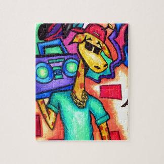 Puzzle Artiste de graffiti de girafe