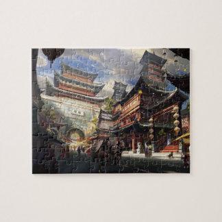 puzzle asiatique de rue de pagoda