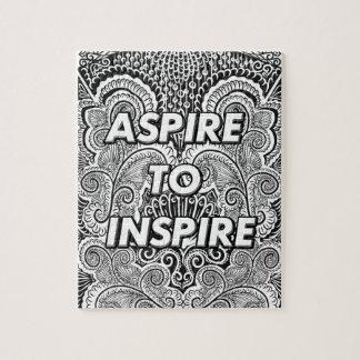 Puzzle ASPIREZ POUR INSPIRER - la citation positive de