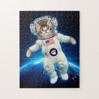 Puzzle Astronaute de chat - chat de l'espace - amoureux
