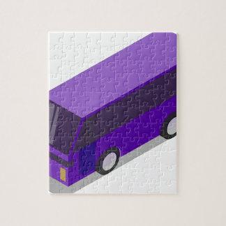 Puzzle Autobus pourpre