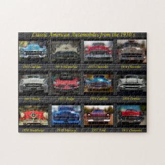 Puzzle Automobiles américaines classiques des années 1950
