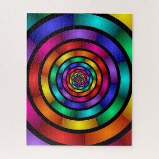 Puzzle Autour de et art moderne coloré psychédélique de