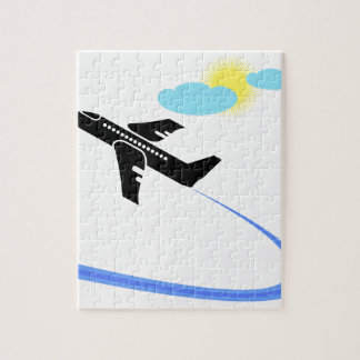 Puzzle Avion dans le fligh