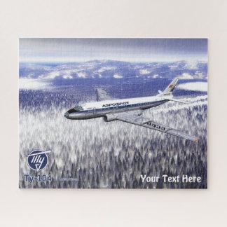 Puzzle Avion de ligne Tu-104 de Tupolev (Туполев)