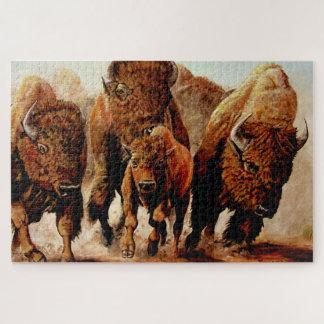 Puzzle Baffalo de remplissage/bison avec le veau, taureau