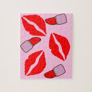 Puzzle baisers et rouges à lèvres