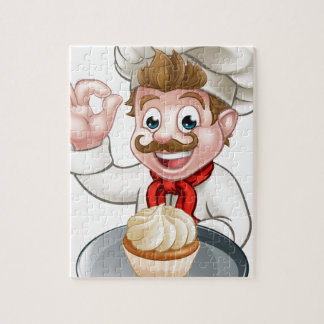 Puzzle Baker de bande dessinée ou chef de pâtisserie