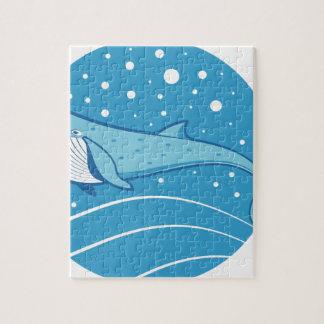 Puzzle Baleine bleue