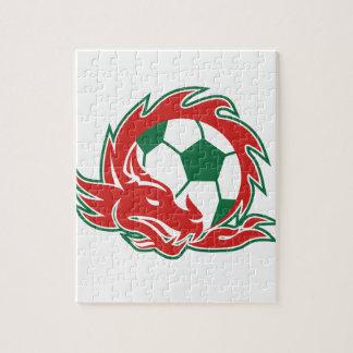Puzzle Ballon de football de dragon de Gallois