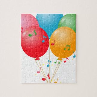 Puzzle Ballons colorés