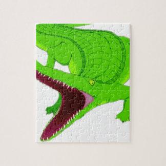 Puzzle bande dessinée d'alligator