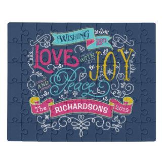 Puzzle Bannière de coutume de paix de joie d'amour de