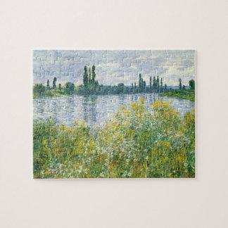 Puzzle Banques de Claude Monet | de la Seine, Vetheuil,