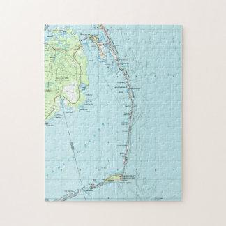 Puzzle Banques externes du sud vintages Map (1957)