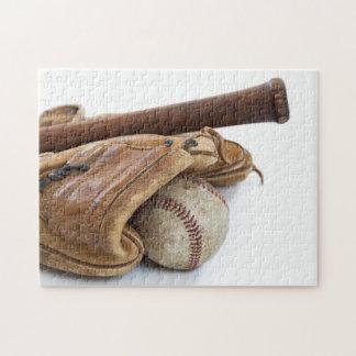 Puzzle Base-ball vintage et batte