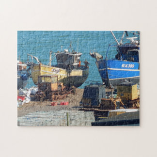 Puzzle Bateaux de pêche chez Hastings le Sussex