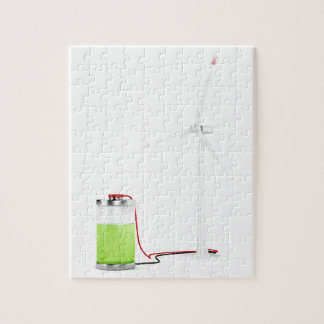 Puzzle Batterie de remplissage avec la turbine de vent