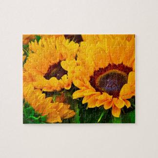 Puzzle Beau bouquet des tournesols jaunes et oranges