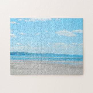 Puzzle Beau paysage Aberdovey de plage de mer du Pays de