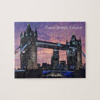 Puzzle Beau pont de tour de Londres Angleterre la nuit