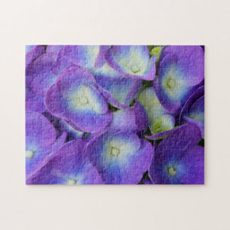 Puzzle Beauté d'un hortensia bleu
